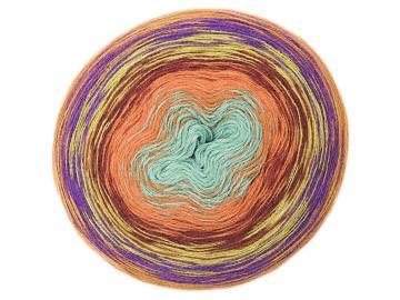 Wool Dégradé super 6 Farbe 012 orange-grün