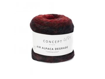 Air Alpaca Degradé Farbe 69 rot-schwarz