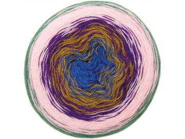 Wool Dégradé super 6 Farbe 015 lila-grün