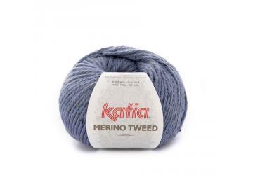 Merino Tweed Farbe 405 hellblau