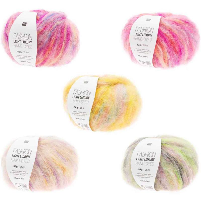 Fashion Light Luxury Hand-Dyed Farbe 004 gelb