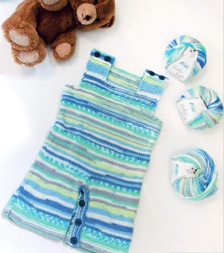 Baby Soft Farbe 100 orange-blau-braun-gelb