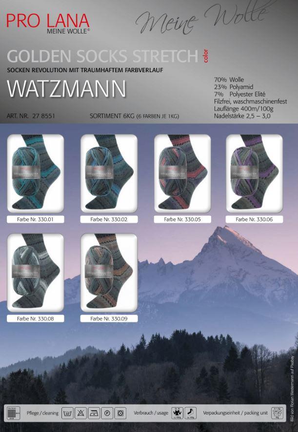 Golden Socks Watzmann Fb. 330.05 grau-bordeaux