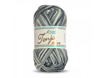 Tonja color Schulgarn Farbe 402 grau-schwarzw-weiß