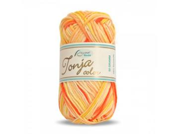 Tonja color Schulgarn Farbe 423 orange-lachs-gelb-weiß