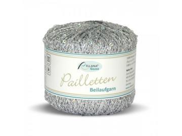 Paillettenbeilaufgarn Farbe 201 silber