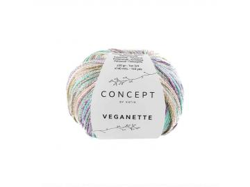 Veganette Farbe 105 perlbrombeer-steingrau-wasserblau