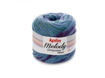 Melody Jacquard print Farbe 507 jeansblau-blau-lila