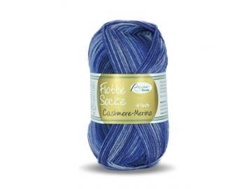 Flotte Socke Cashmere-Merino Farbe 1324 blau-jeansblau