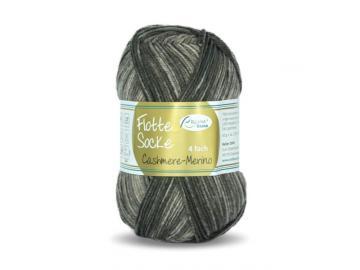 Flotte Socke Cashmere-Merino Farbe 1325 dunkelbraun-hellbraun