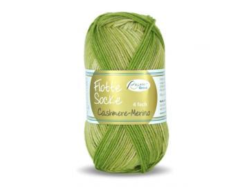 Flotte Socke Cashmere-Merino Farbe 1327 grün-belbgrün