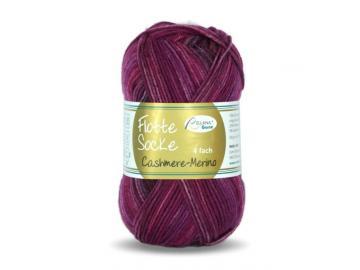 Flotte Socke Cashmere-Merino Farbe 1328 weinrot-fuchsia