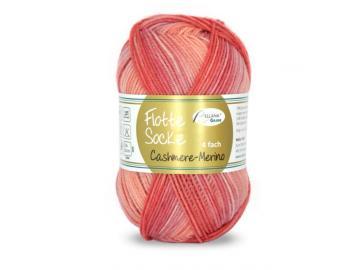 Flotte Socke Cashmere-Merino Farbe 1329 apricot-lachs-rosa