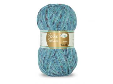 Flotte Socke Tweed Farbe 1330 blau