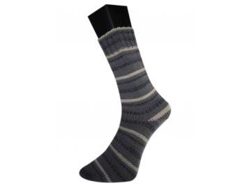 lungauer Sockenwolle Farbe 337-20 dunkelgrau-hellgrau