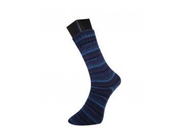 lungauer Sockenwolle Farbe 342-20 schwarz-nachtblau-blau