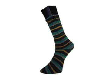 lungauer Sockenwolle Farbe 343-20 schwarz-jeans-curry-grün