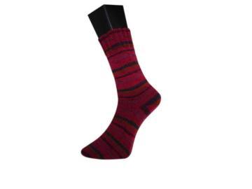 lungauer Sockenwolle Farbe 347-20 schwarz-bordeaux-fuchsia