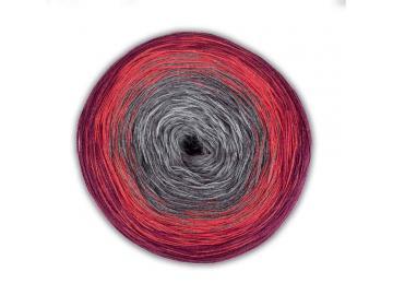 Bobbel Cotton Farbe 04 grau-rot-bordeaux