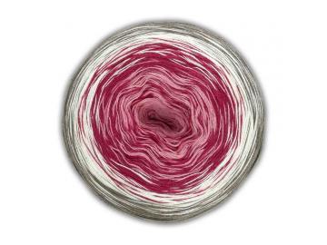 Bobbel Cotton Farbe 20 lachs-dunkelrot-natur-schlamm