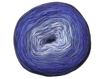 Bobbel Cotton Farbe 24 hellblau-blau-dunkelblau