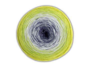 Bobbel Cotton Farbe 41 dunkelgrau-hellgrau-limette