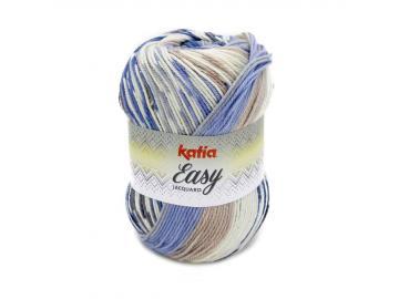 Easy Jacquard Farbe 352 blau-braun