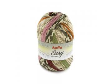Easy Jacquard Farbe 101 blassbraun-bordeauxviolett-khaki