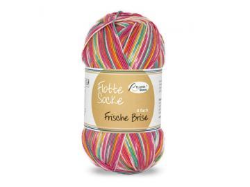 Flotte Socke Frische Brise Farbe 1444 pink-smaragd-gelb