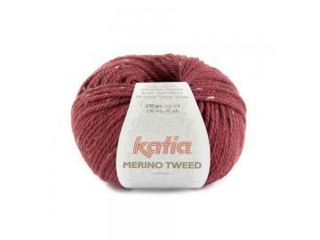 Merino Tweed Farbe 315 himbeerrot