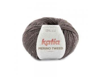 Merino Tweed Farbe 316 aubergine