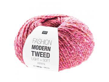Modern Tweed aran Farbe 006 beere