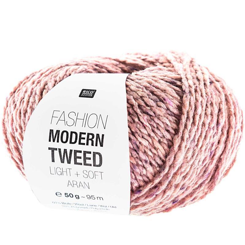 Modern Tweed aran Farbe 005 rosa