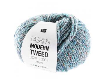 Modern Tweed aran Farbe 007 hellblau