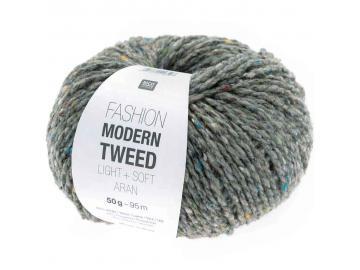 Modern Tweed aran Farbe 015 hellgrau
