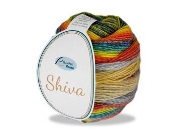 Shiva Farbe 101 gelb-orange-blau-grau