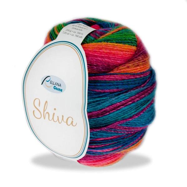 Shiva Farbe 102 gelb-orange-blau-grau