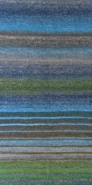 Shiva Farbe 104 hellgelb-lila-blau